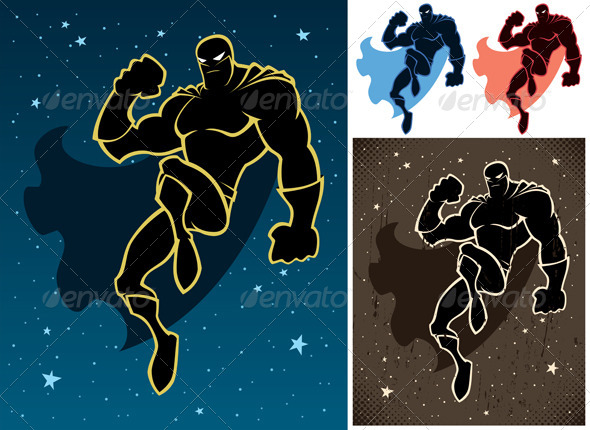 Superhero In The Sky - People Characters