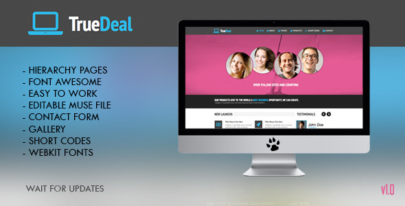 True Deal Multipage Muse Template