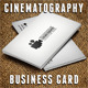 Cinematography Card - GraphicRiver Item for Sale