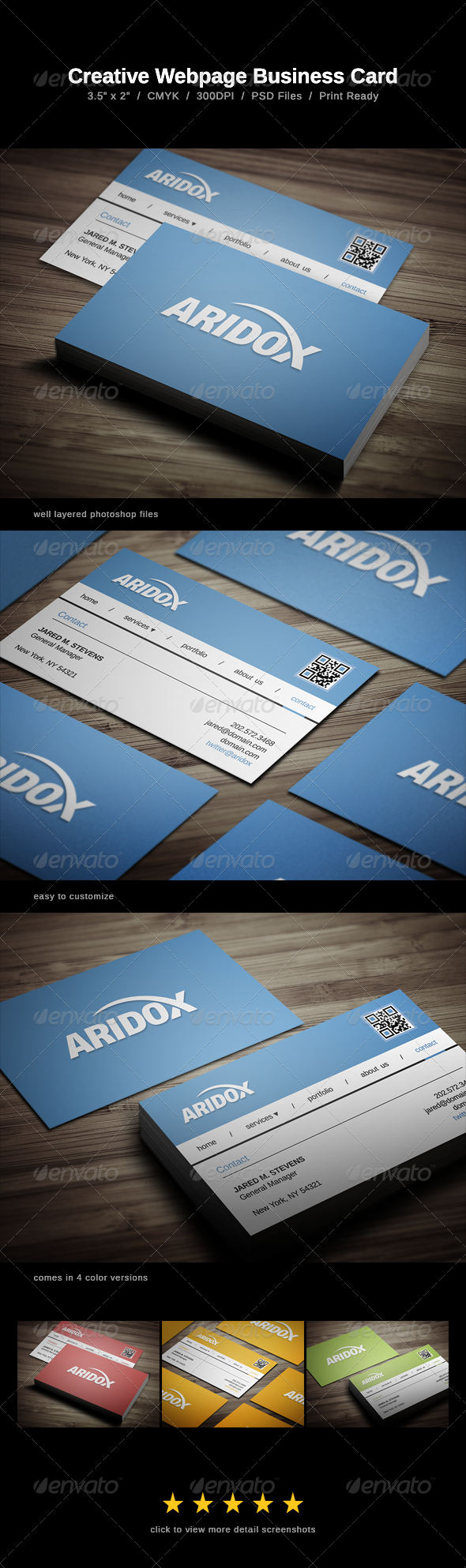 Creative Webpage Business Card - Business Cards Print Templates