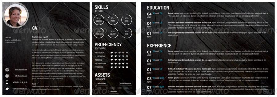 creative resume and portfolio booklet by melissadekker graphicriver