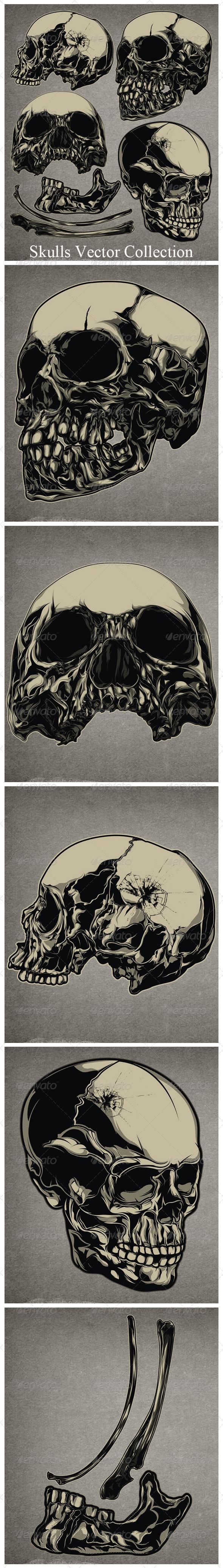 Vector Skulls Collection - Tattoos Vectors