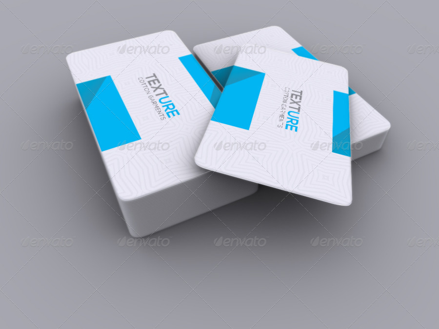 Realistic Round Corner Business Card Mock-up by -axnorpix | GraphicRiver