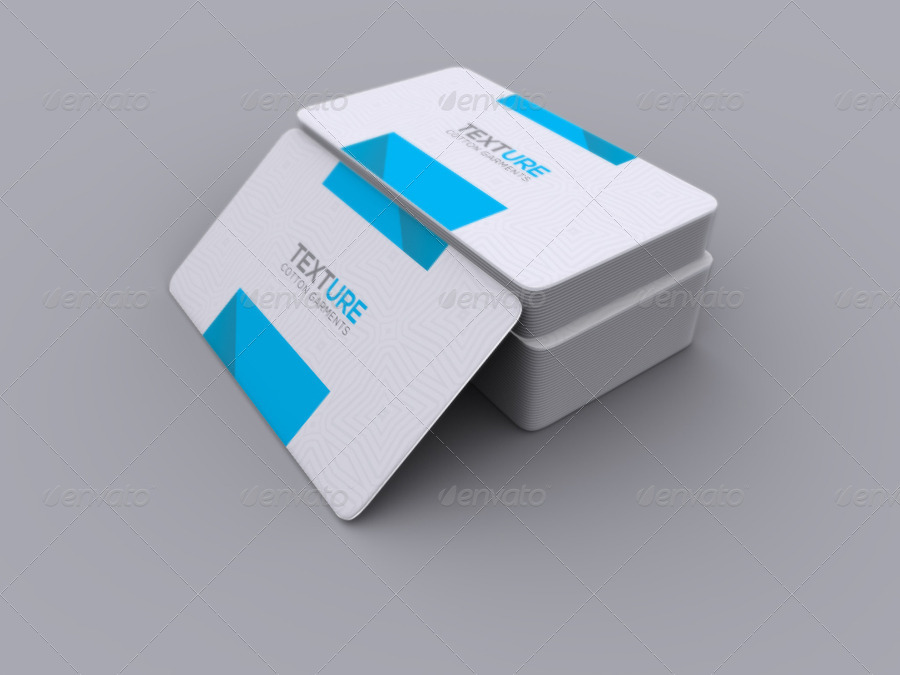 Realistic Round Corner Business Card Mock-up by -axnorpix ...