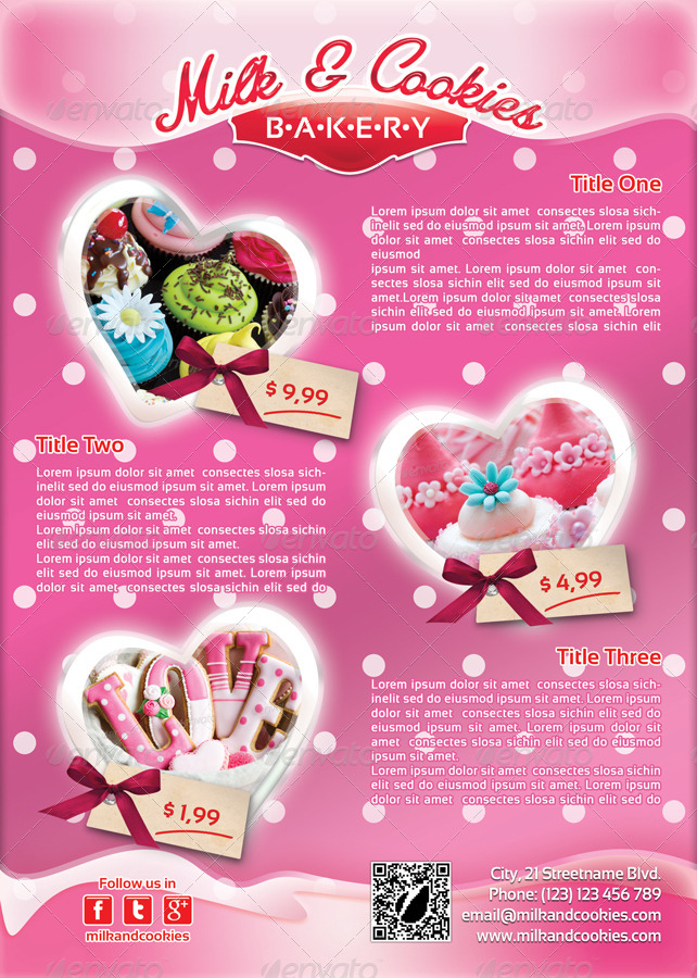 Valentines Cookies Flyer Template 25 By 21min Graphicriver