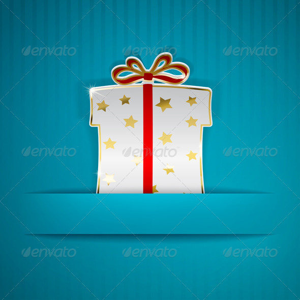 Gift Box Cut Out of Paper - Miscellaneous Seasons/Holidays