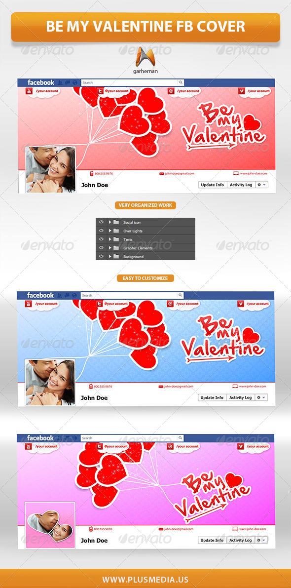 Be My Valentine Facebook Cover - Facebook Timeline Covers Social Media
