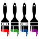 colorful paintbrush icon set - GraphicRiver Item for Sale