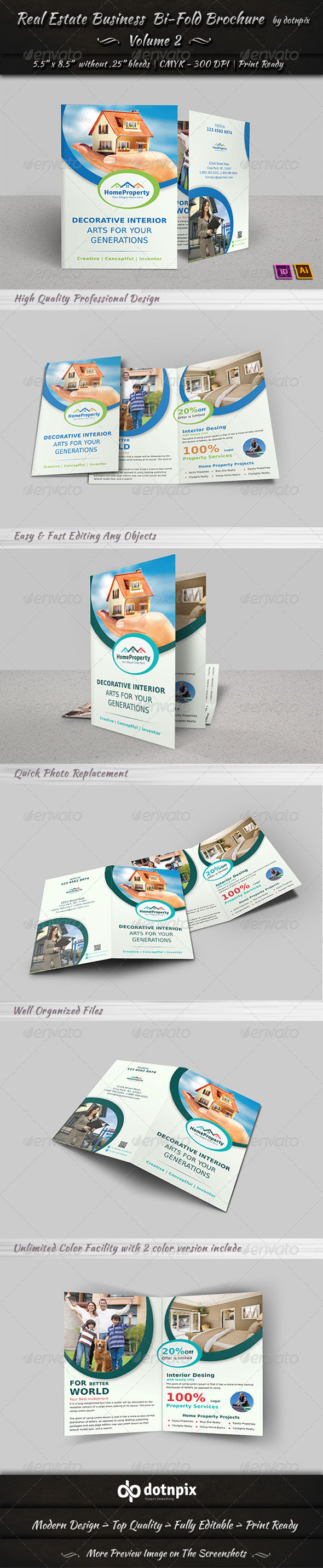 Real Estate Business  Bi-Fold Brochure | Volume 2 - Corporate Brochures