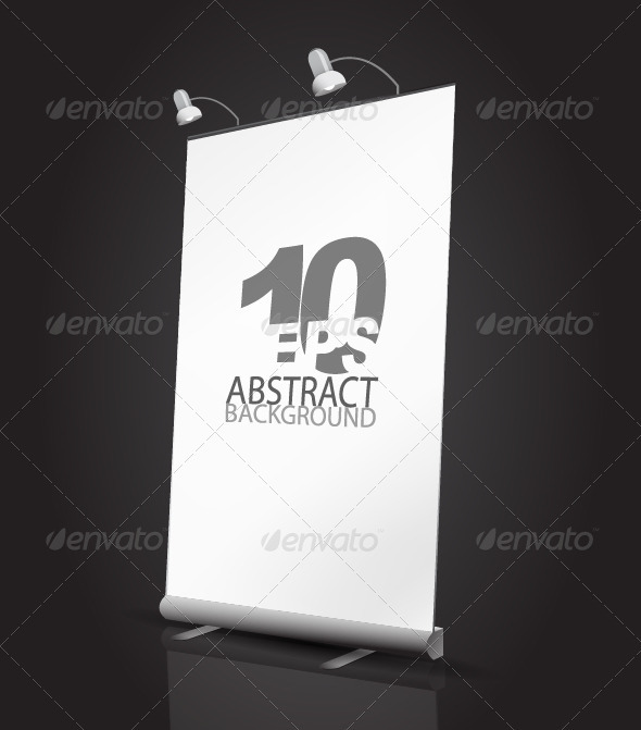 Vector expanding banner stand - Retail Commercial / Shopping