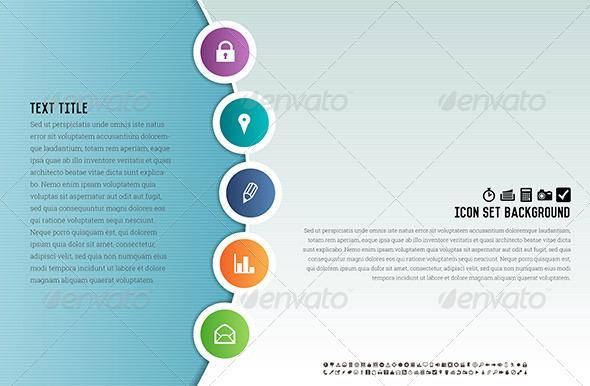 Icon Set Background - Backgrounds Decorative