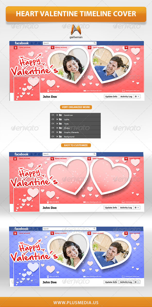 Heart Valentine Timeline Cover - Facebook Timeline Covers Social Media