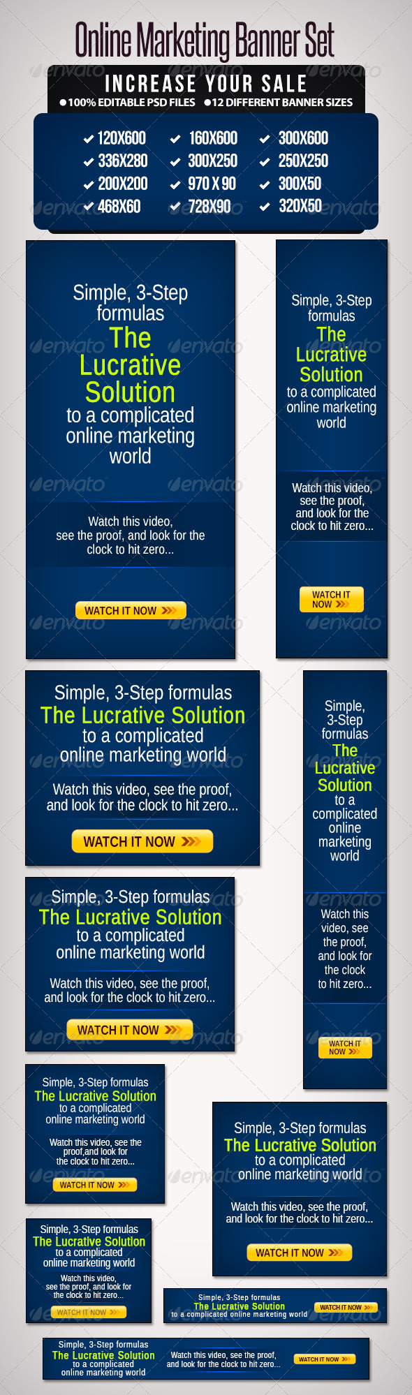 Online Marketing Banner Set - Banners & Ads Web Elements