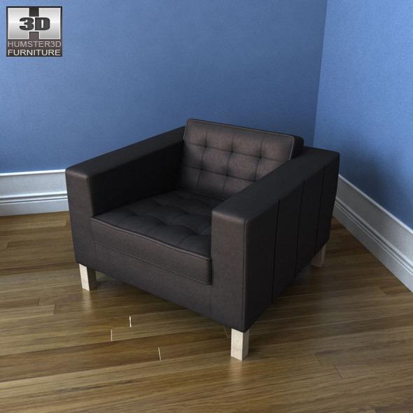 Excellent Ikea Karlstad Armchair 3D Model Lamtechconsult Wood Chair Design Ideas Lamtechconsultcom
