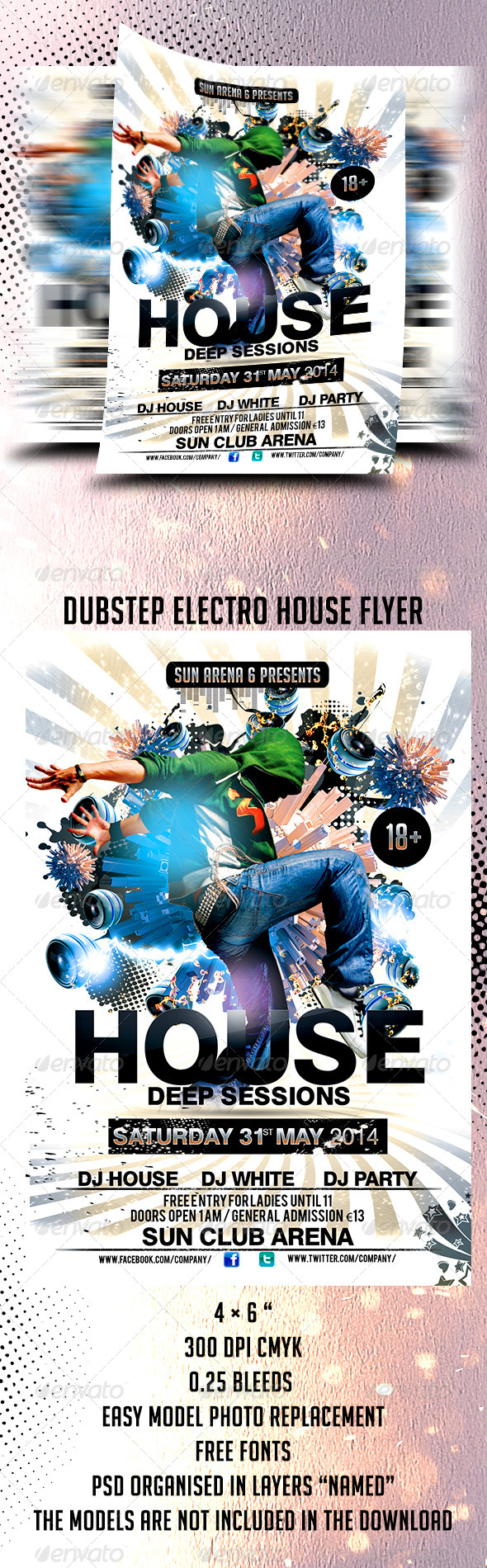 Dubstep Electro House Flyer Template - Events Flyers