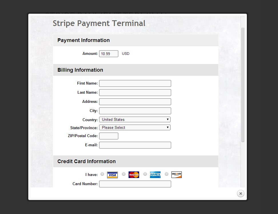 Stripe Payment Terminal Wordpress By Criticalgears