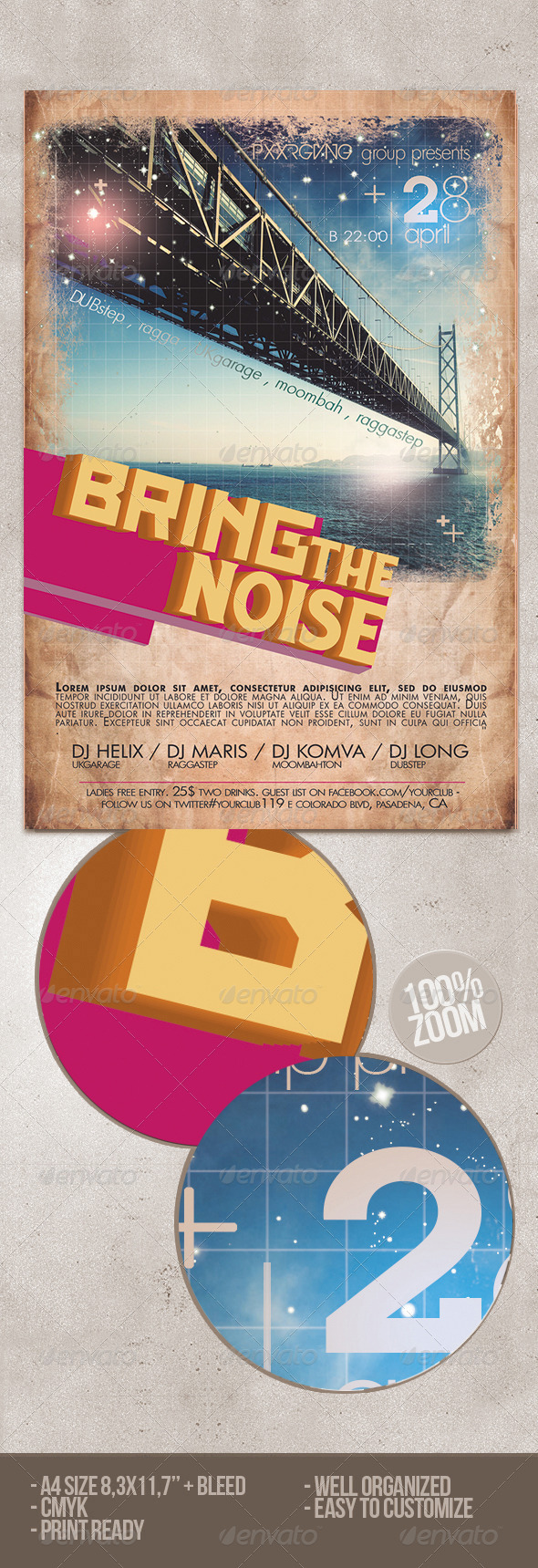 Bring The Noise Party Flyer - Clubs & Parties Events