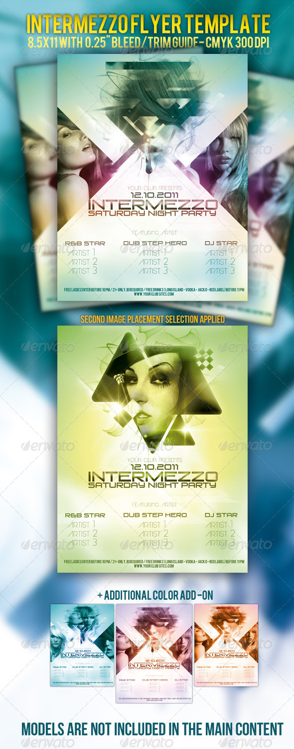 Intermezzo Party Flyer Template - Clubs & Parties Events