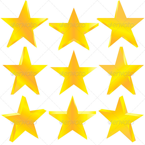 Golden Stars Set - Decorative Symbols Decorative