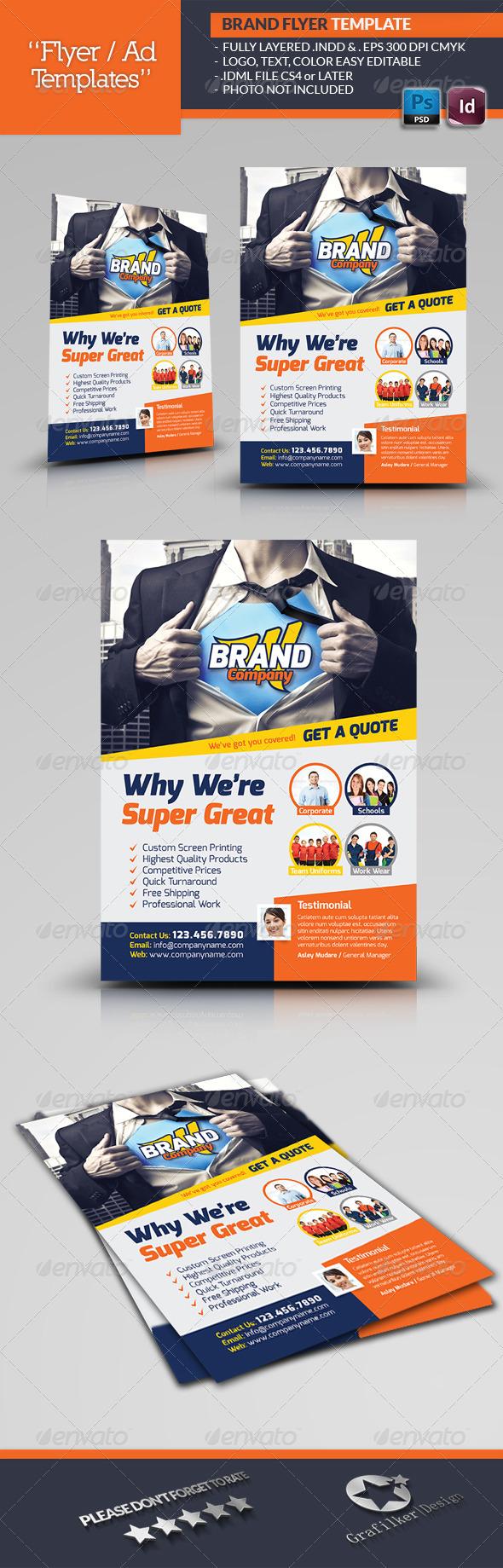 Creative Brand Flyer Template - Corporate Flyers