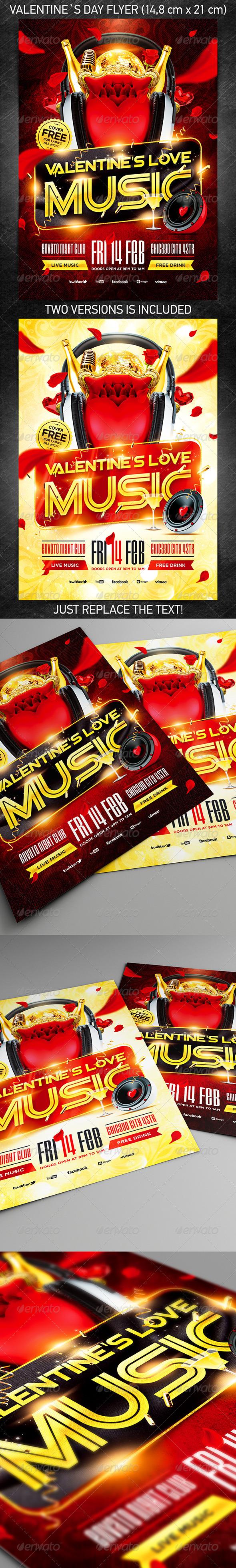 Valentine`s Love Music Flyer Vol.4 - Holidays Events