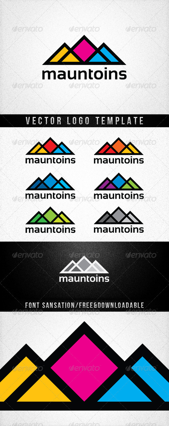 MAUNTOINS - Vector Abstract