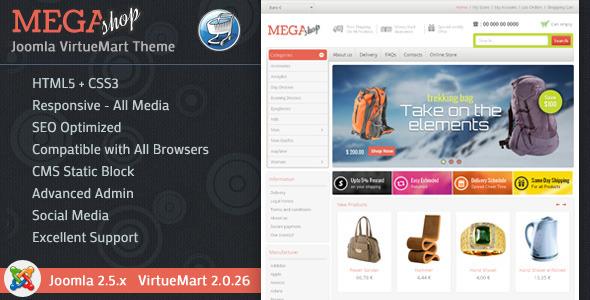 Mega Shop - VirtueMart Responsive Theme