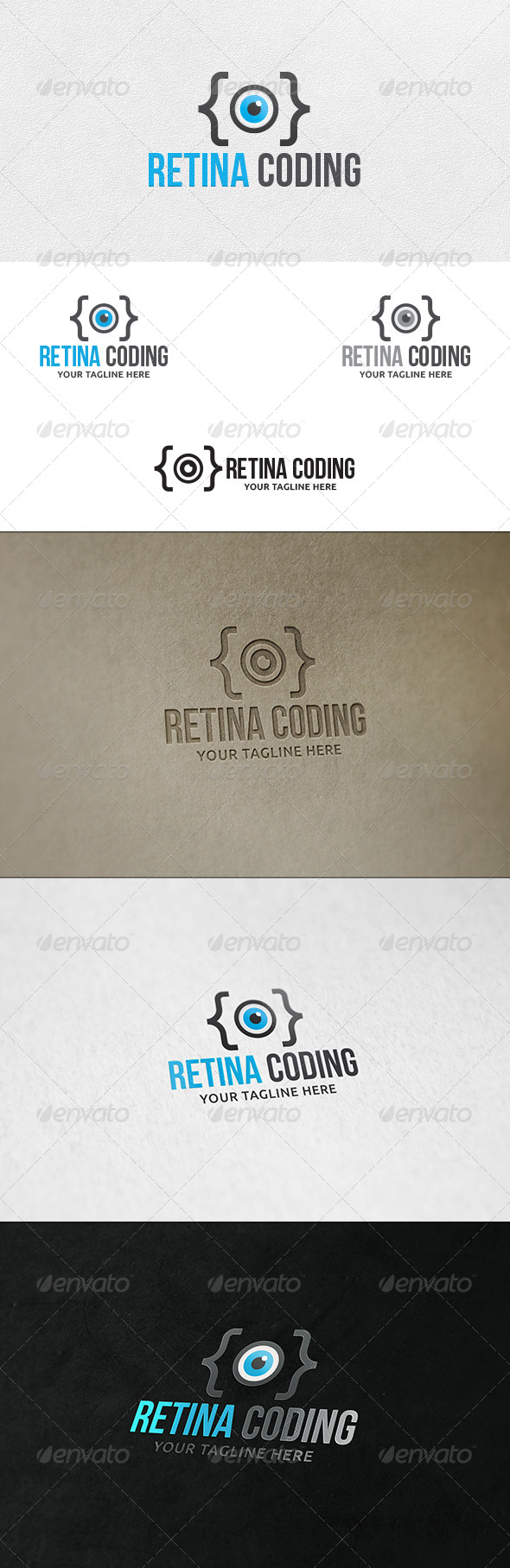 Retina Coding - Logo Template - Symbols Logo Templates