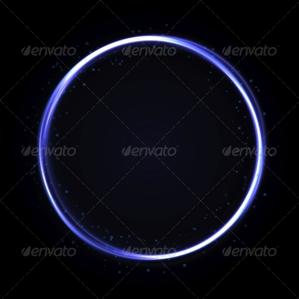 Abstract Technology Circle Background - Abstract Conceptual