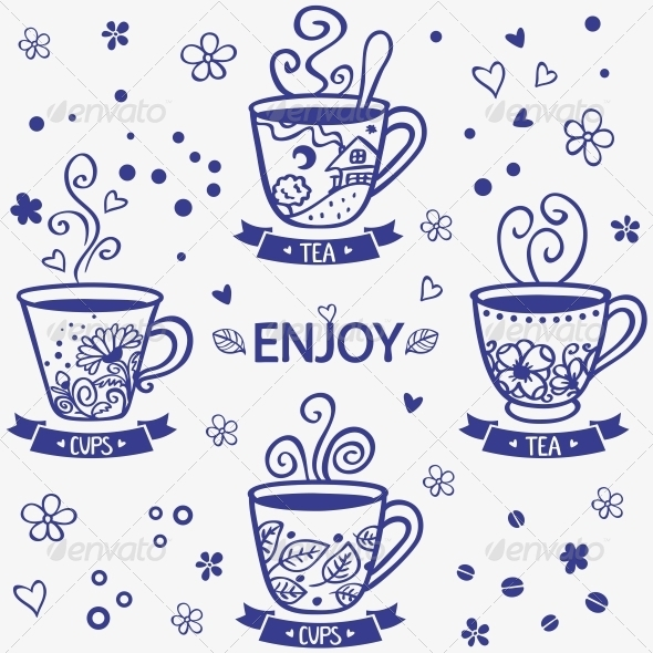 Cups Silhouette - Miscellaneous Vectors