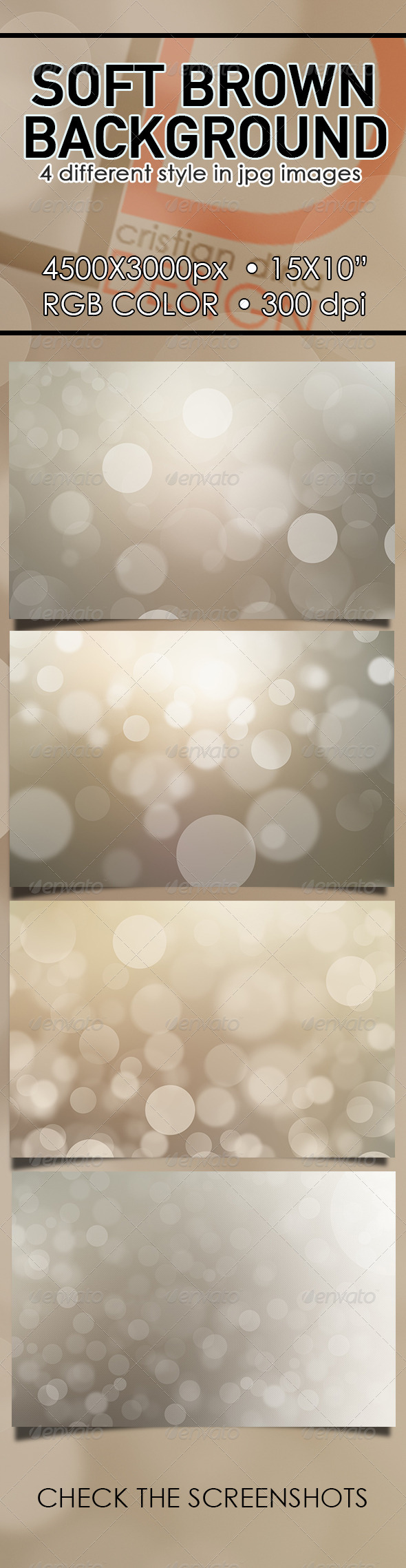 Soft Brown Background - Backgrounds Graphics