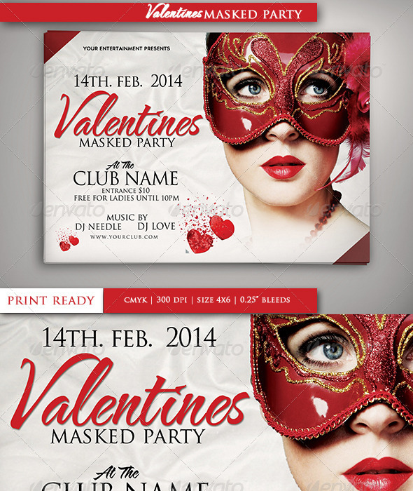 Valentines Masked Party - Clubs & Parties Events