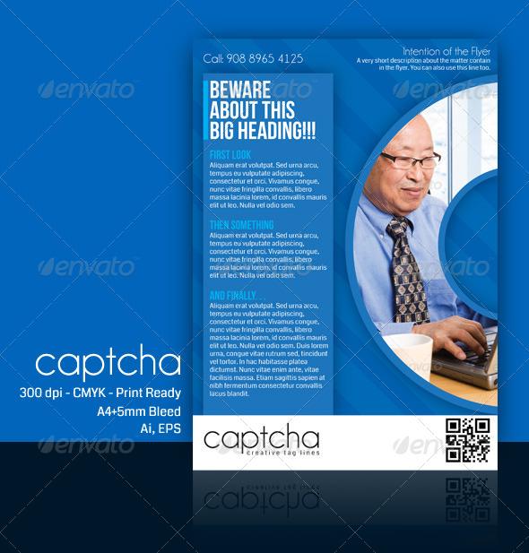 Multipurpose Business Flyer - Captcha - Corporate Flyers