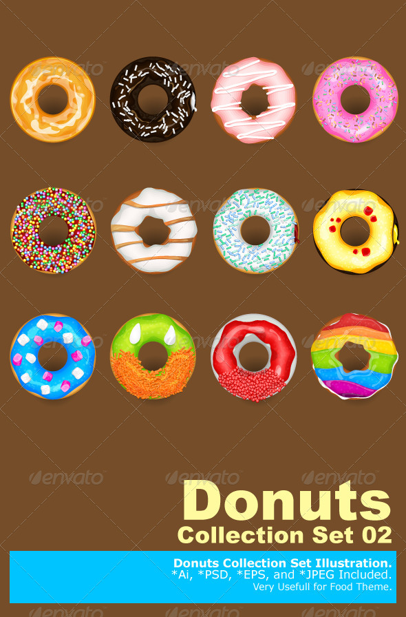 Donuts Collection Set - Food Objects