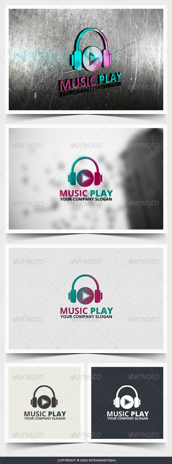Music Play Logo Template - Objects Logo Templates