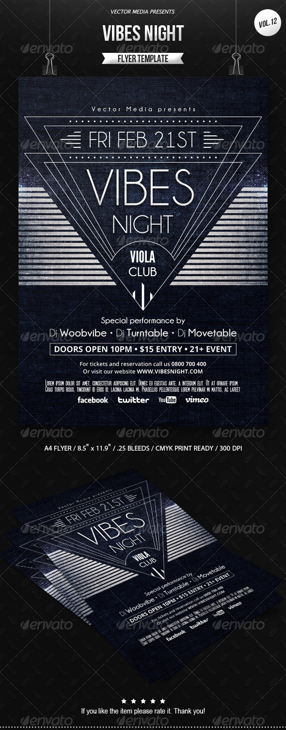 Vibes Night - Flyer [Vol.12] - Clubs & Parties Events