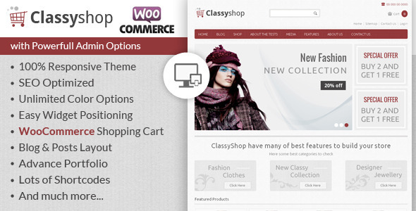 ClassyShop – WooCommerce Responsive Theme