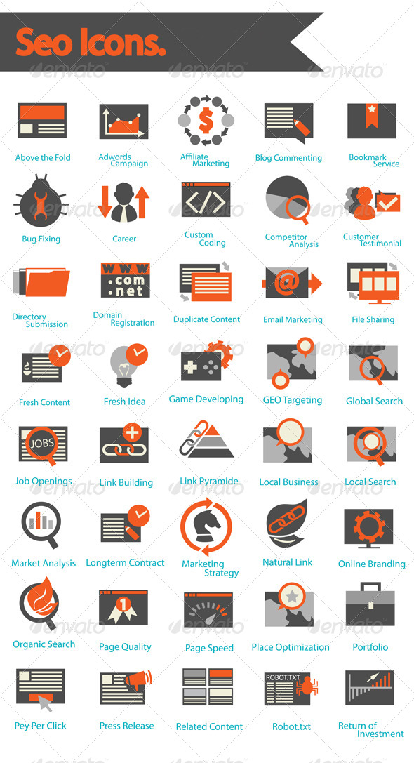 SEO Icons Set  - Business Icons
