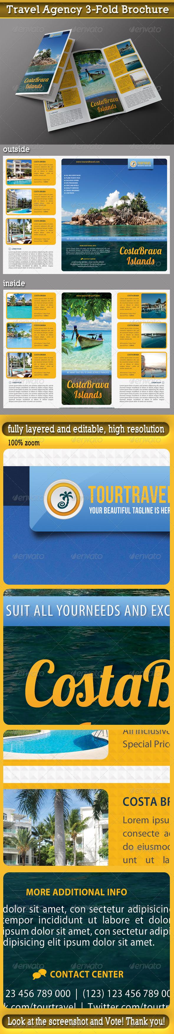 Travel Agency 3-Fold Brochure 04 - Informational Brochures