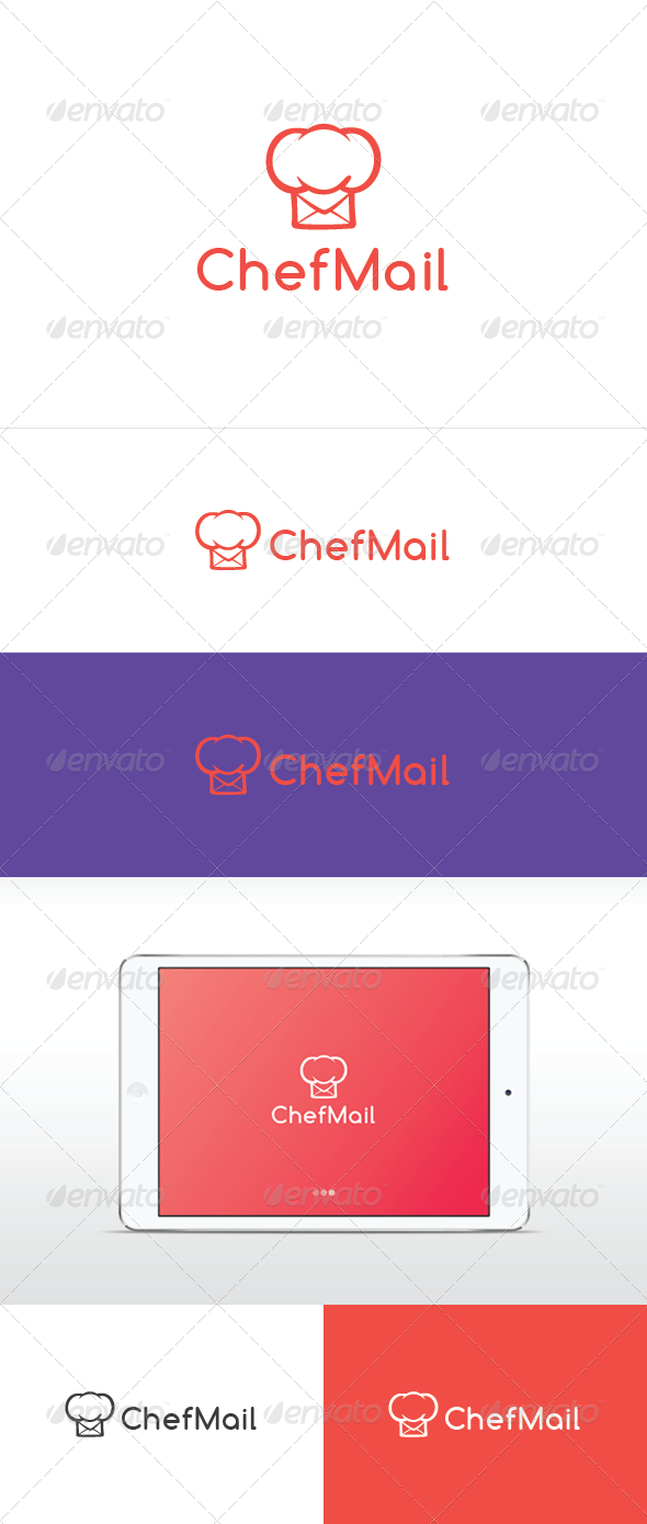 Chef Mail - Food Logo Templates