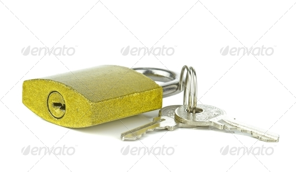 Padlock and Keys - Stock Photo - Images