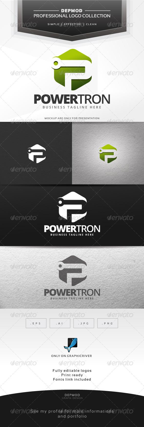 Powertron Logo - Letters Logo Templates