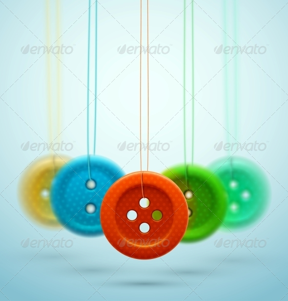 Sewing Buttons - Miscellaneous Vectors