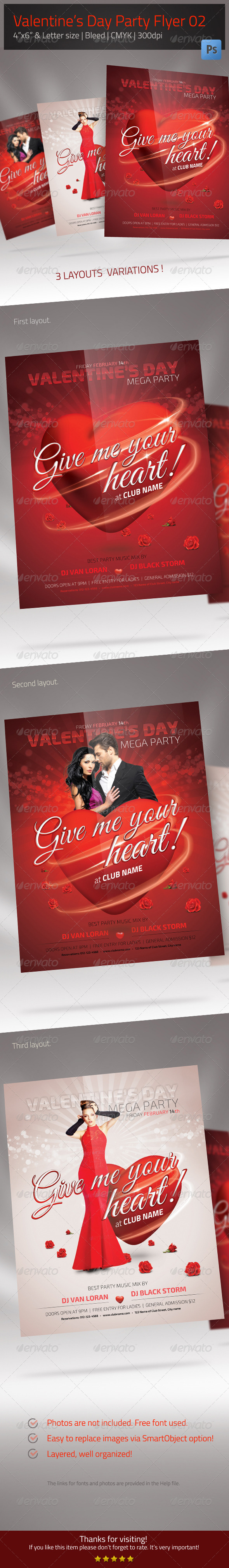 Valentine's Day Flyer 02 - Clubs & Parties Events