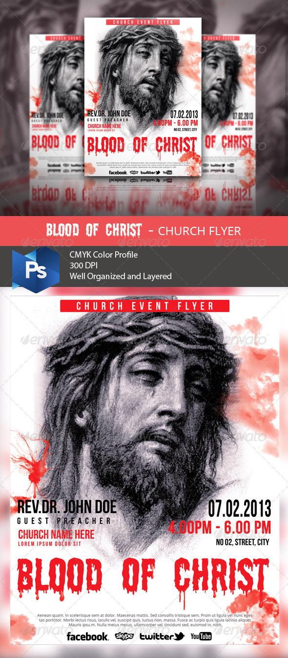 Blood of Christ - Church Flyer - Church Flyers