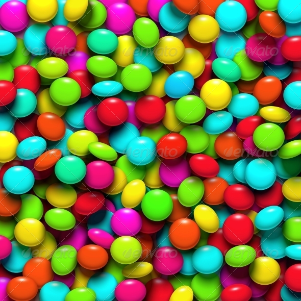 Background with Candy - Food Objects