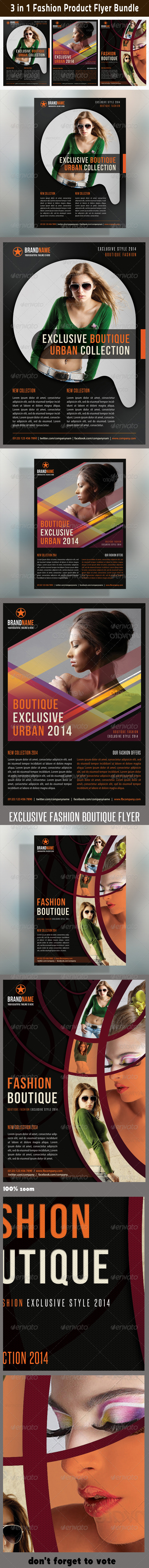 3 in 1 Fashion Product Flyer Bundle 08 - Commerce Flyers