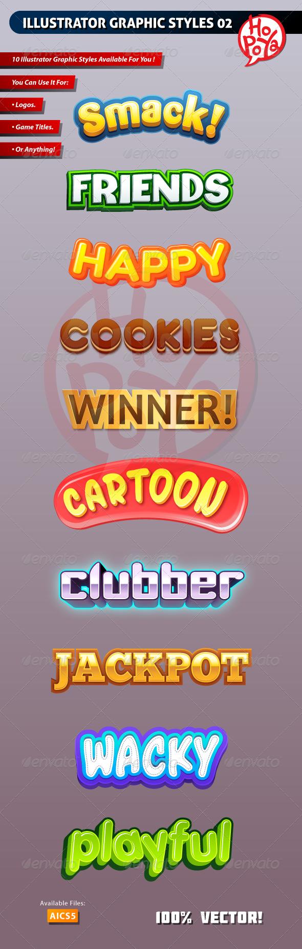 Illustrator Graphic Styles 02 - Styles Illustrator