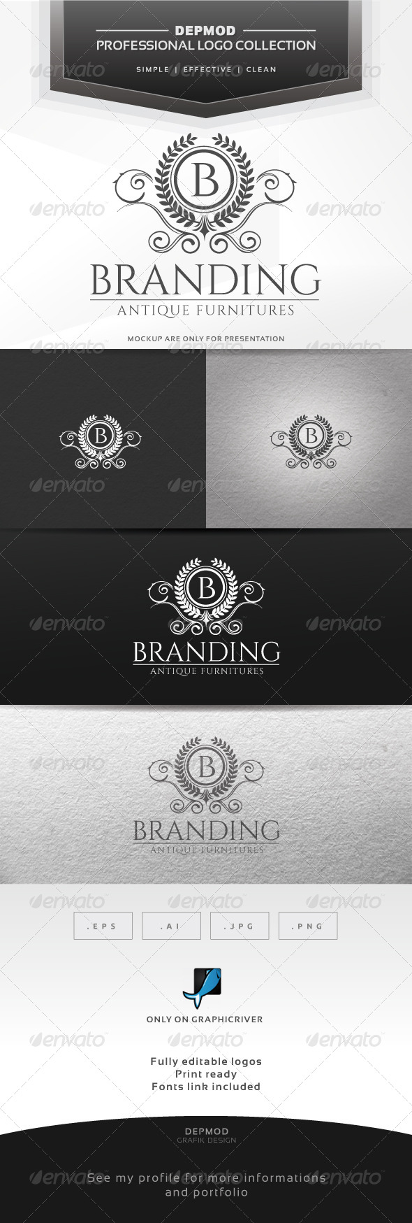 Branding Logo - Crests Logo Templates