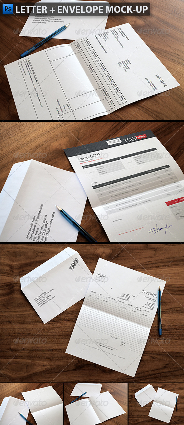 Letter  Envelope MockUps By Themedia  Graphicriver